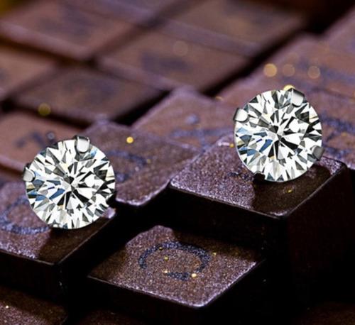 brinco masculino prata pura 925 pedra diamante sintético