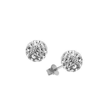 brinco mina prata 925 cristais swarovski  bola promoção