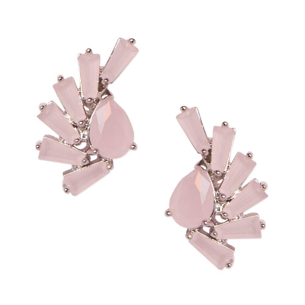 brinco mini ear cuff com tiras de zircônias rosa claro banho. Carregando  zoom. cab9b9d638