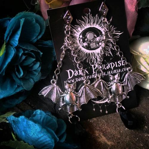 brinco morcego - brinco gótico, rock, punk, halloween