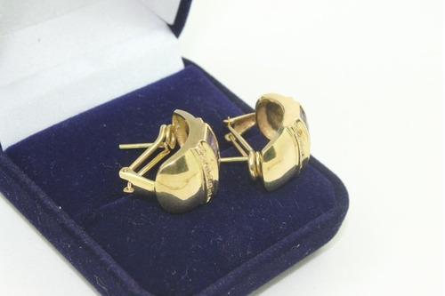 brinco ouro 18 k cm ametista cravejado de brilhantes