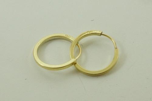 brinco ouro 18k argola redonda p segundo furo bar0030