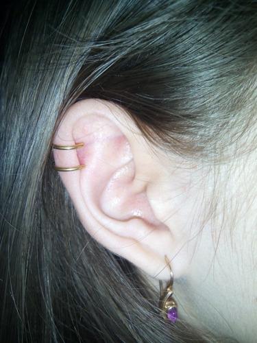 brinco pressao para cartilagem orelha pra helix feminino aço