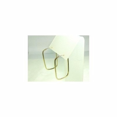 brinco quadrado de argola em ouro 18k-750