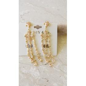 Brinco Rodinado Dourado Com Pedra  Bijouteria Karsty & Co.