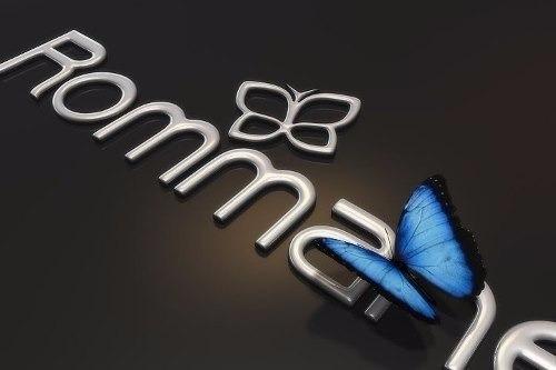 brinco rommanel argola infantil borboleta sobreposta 525241
