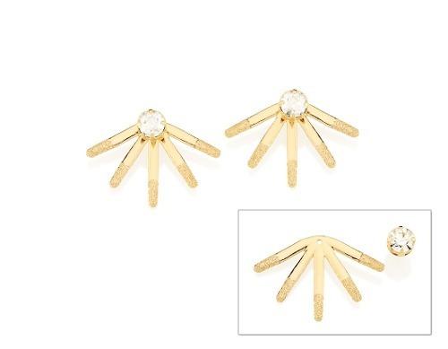 brinco  rommanel ear jacket  tendo base ouro 525149