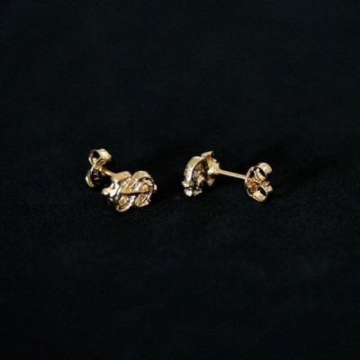 brinco semi jóia folheado a ouro pequeno riqueza dinheiro