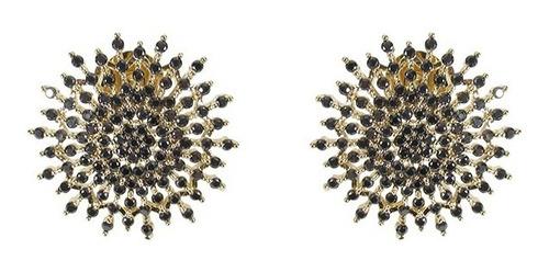 brinco semijoia microzircônias banho ouro oferta