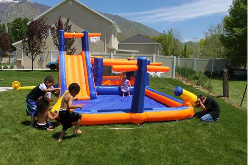 brincolin resbaladilla inflable agua gigante niños juego