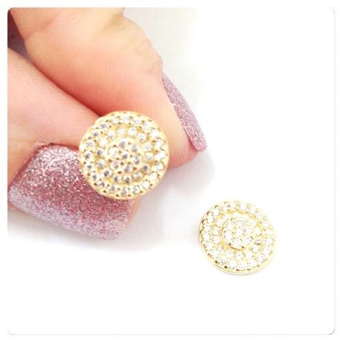 brincos coleção chuveiro joia de ouro 18k charme  elegância
