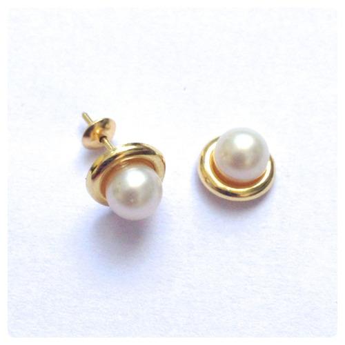 brincos de pérolas naturais  rococó 5 mm joia de ouro 18k