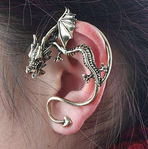 brincos ear cuff presente, namorada, natal, punk gótico rock
