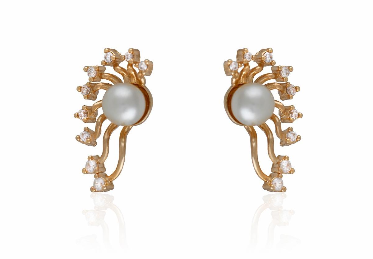 781c333dc8585 brincos femininos brincos ear cuff pérola zirconia semi jóia. Carregando  zoom.