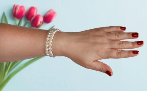brincos femininos zirconia + pulseiras pérolas semi jóias