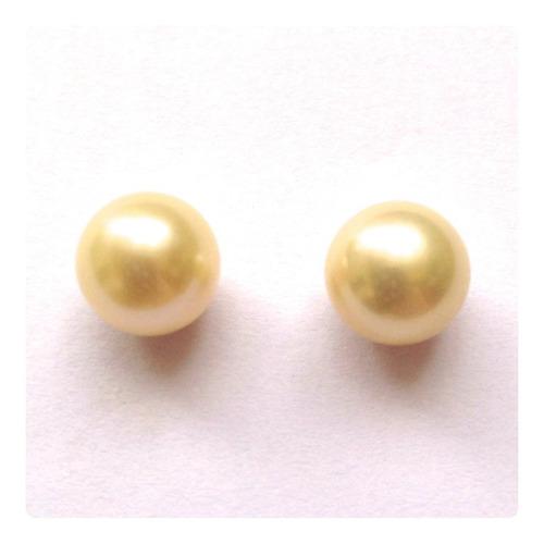 brincos pérolas 8mm joia ouro 18k presente especial mães