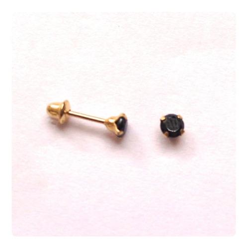 brincos ponto de luz 2 mm pedra onix joia delicada ouro 18k