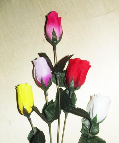 brind 50 botões rosas de cores variadas - flores artificiais