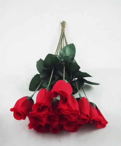 brind 50 rosas artificiais em botão - artificial flores flor