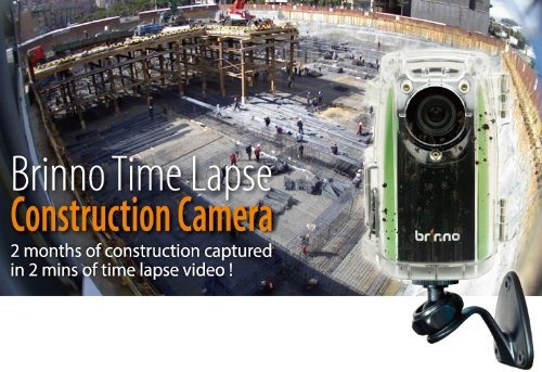 brinno construction time lapse camera bundle bcc100 + free 1
