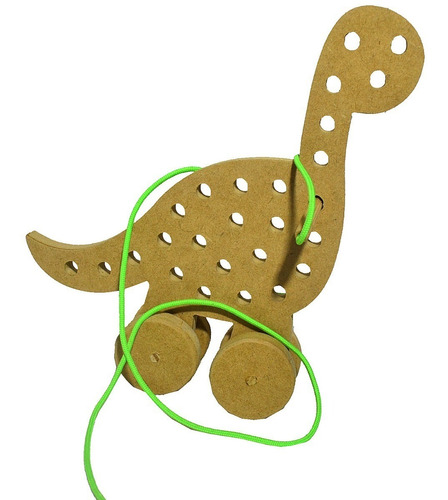 brinquedo alinhavo dinossauro diplodocus mdf