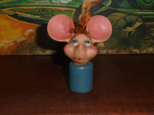 brinquedo antigo cabeça miniatura do topo gigio memorbilia