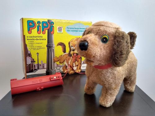 brinquedo antigo cachorro pipi da estrela c/ caixa