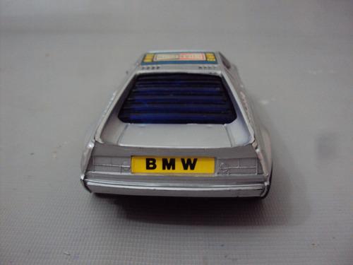 brinquedo antigo, carro controle remoto bmw m1 na caixa.