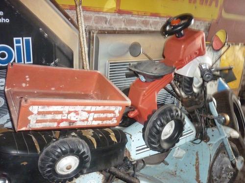 brinquedo antigo de pedal pedalcar trator bandeirante show