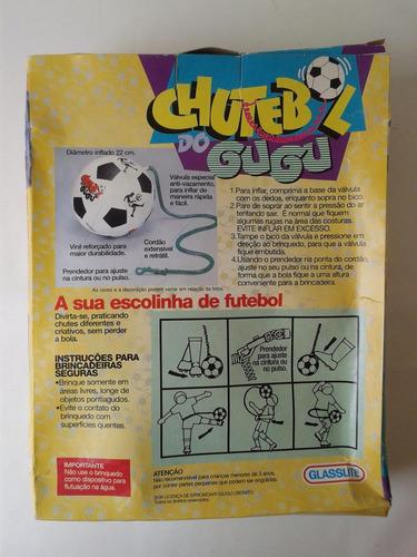 brinquedo antigo glasslite chutebol do gugu - raridade