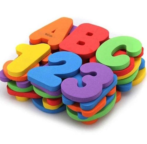 brinquedo atividades alfanumérico educativo 36 peça infantil