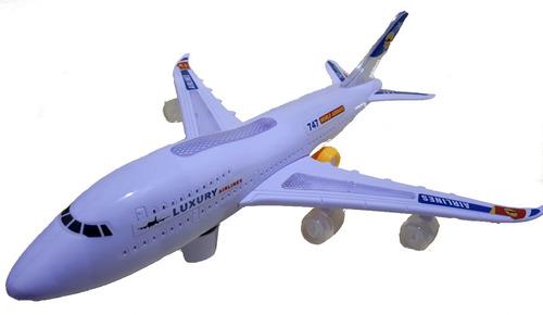 brinquedo avião boeing 747 boing airbus eletrônico a pilha