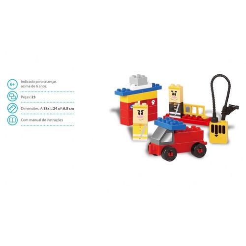 brinquedo big bombeiro p/ montar 23 pçs