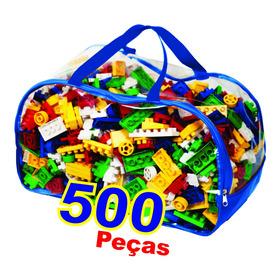 Brinquedo Blocos De Montar Infantil Educativo 500 Peças