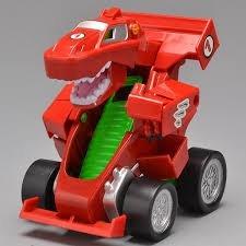 brinquedo carrinho que vira robô vermelho - tomtoys
