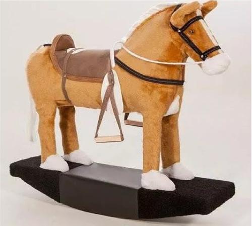 brinquedo cavalinho de balanço madeira e pelúcia crianças