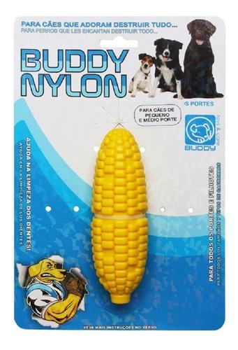 brinquedo cães cenoura + graveto + milho + pneu buddy nylon
