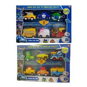 Brinquedo Coleção 12 Carrinhos Robocar Poli Com Fricção