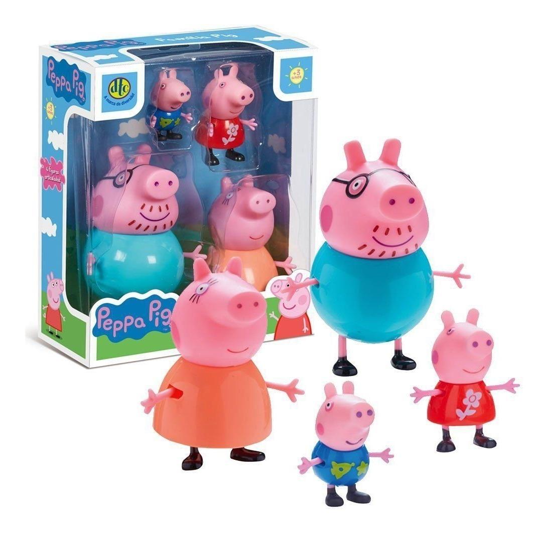 Brinquedo Conjunto Familia Peppa Pig Dtc R 79 90 Em Mercado Livre