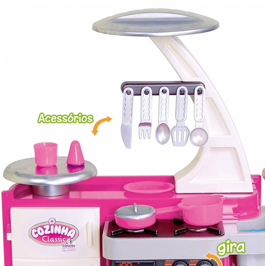 Brinquedo Cozinha Infantil Classic Completa Menina Cotipl S R 149
