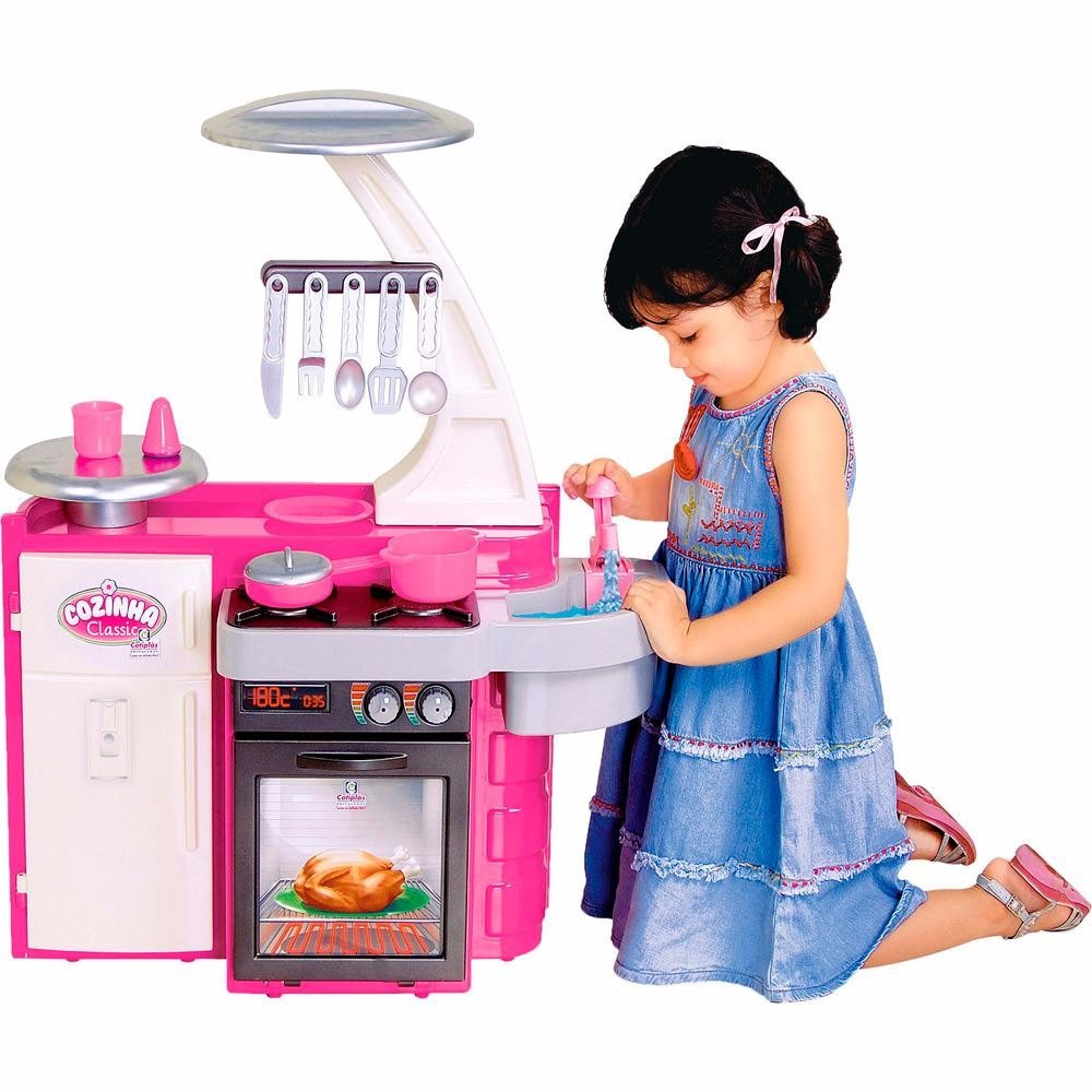 Brinquedo Cozinha Infantil Classic Completa Menina Cotiplas R  ~ Mercado Livre Cozinha Infantil