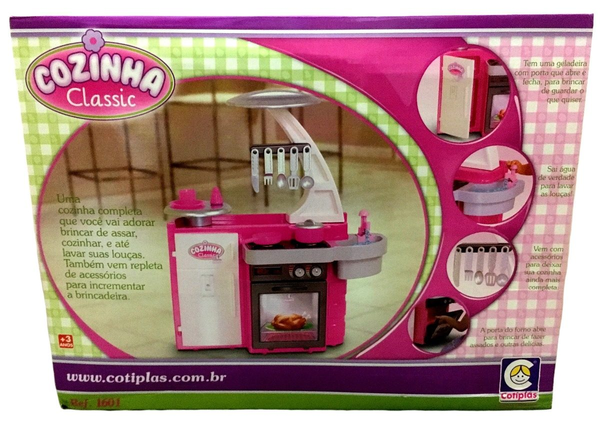 Brinquedo Cozinha Infantil Completa Pia Sai Gua Cotipl S R 149