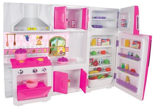 Brinquedo cozinha infantil geladeira fog o arm rio menina - Armarios para juguetes ...