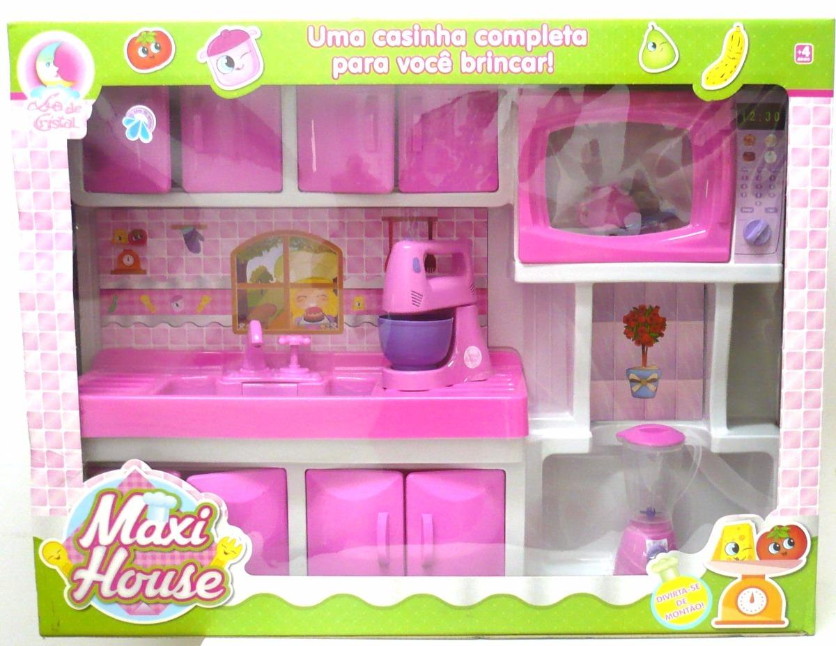 Brinquedo Cozinha Infantil Grande Maxi Cook Pia E Microondas R  ~ Mercado Livre Cozinha Infantil