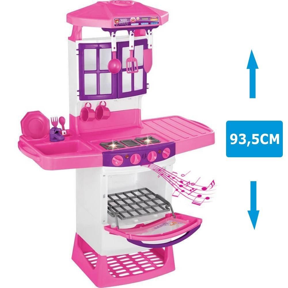 Brinquedo Cozinha Infantil M Gica Completa Altura 93 5cm 800 R