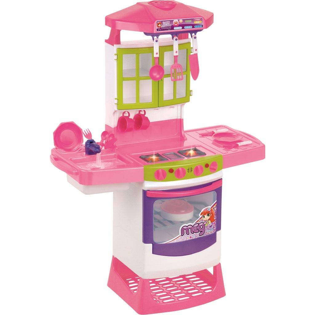 Brinquedo Cozinha Magica Super Eletronica Infantil Completa R 239