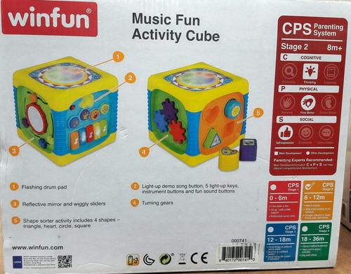 brinquedo cubo musical didático winfun infantil