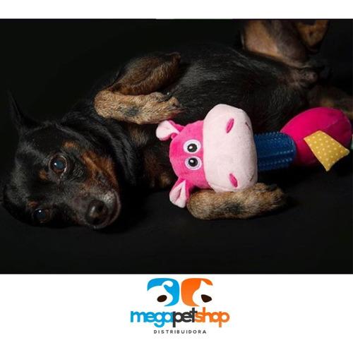 brinquedo de pelúcia hipopótamo c/ mordedor pawise