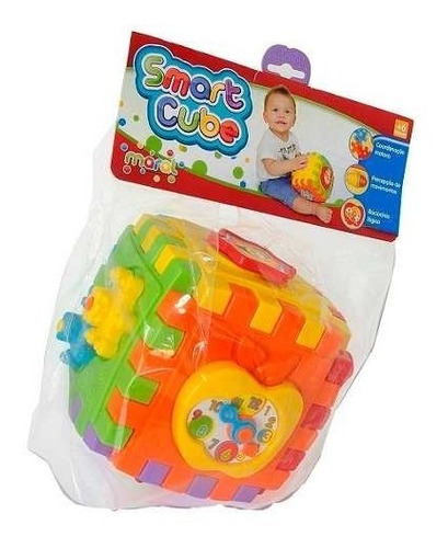 brinquedo didatico educativo c/ som maral 4010 - cubo bb006