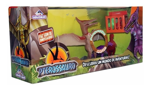 brinquedo dinossauro voador pterossauro com som adijomar